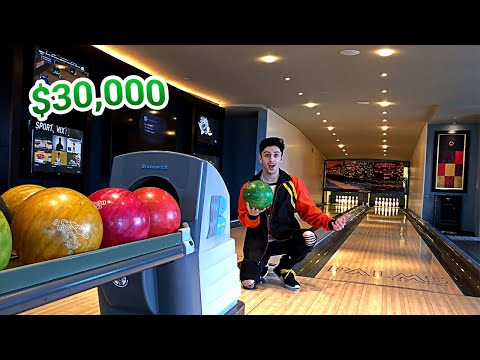 MY INSANE $30,000 HOTEL ROOM!! (BOWLING ALLEY IN THE ROOM)