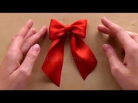 Schleife binden zum Geschenke verpacken. 🎀 DIY Geschenkschleife zum Geschenk dekorieren basteln