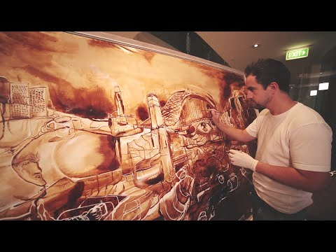 Gorgeous Painting Made with Coffee