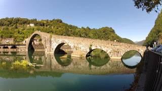 preview picture of video 'Borgo a Mozzano - Ponte del Diavolo (Italy) 170° - 3 min RealTime'