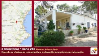 preview picture of video '3 dormitorios 1 baño Villa se Vende en Macastre, Valencia, Spain'