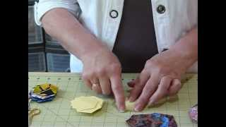Introduction To English Paper Piecing Hexagons - Quilting Tips & Techniques 056