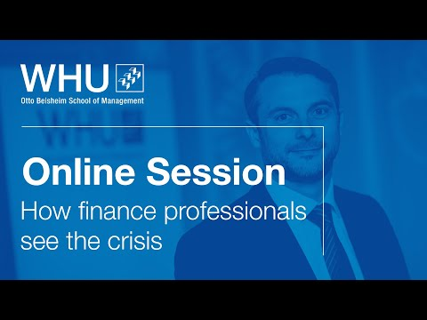 How finance professionals see the corona crisis   WHU Online Session