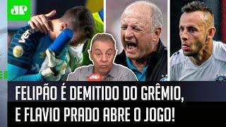 'É preocupante; auxiliar do Felipão me contou que o Grêmio…'; Flavio Prado abre o jogo após demissão