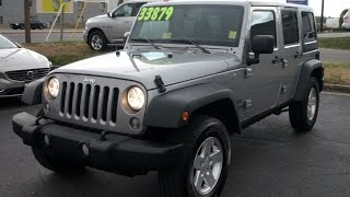 *SOLD* 2016 Jeep Wrangler Unlimited Sport Walkaround, Start Up, Tour And Overview