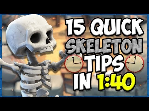 15 QUICK Tips About: Skeletons💀 - Clash Royale