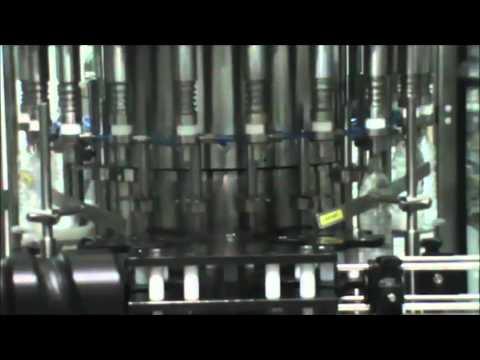 Youtube video of 20 valve PET bottle filler