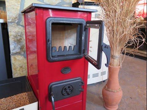 Отопительно-варочная печь с водяным контуром MBS Thermo Magnum Red L\R (видео)