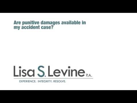 Are punitive damages available in my accident case?