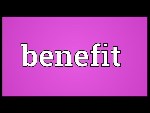 Video Benefit Meaning
