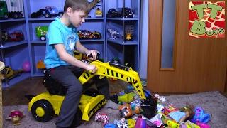 CARS TOYS BRUDER DIGGER Брудер Машинки Обзор Игрушек Игорек и Арина Игры и Развлечения для детей
