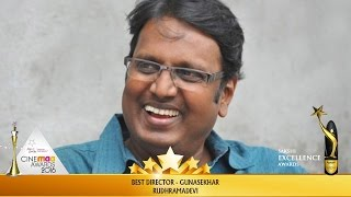 Gunasekhar Wins Best Director for Rudhramadevi at CineMAA Awards & Sakshi Excellence Awards