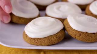 recipe for soft pumpkin cookies with cream cheese frosting