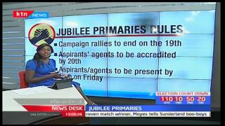 Jubilee party nominations rules for 21st April 2017 primaries