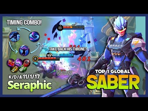 saber with 5897 match annoying mid lane seraphic top 1 globa