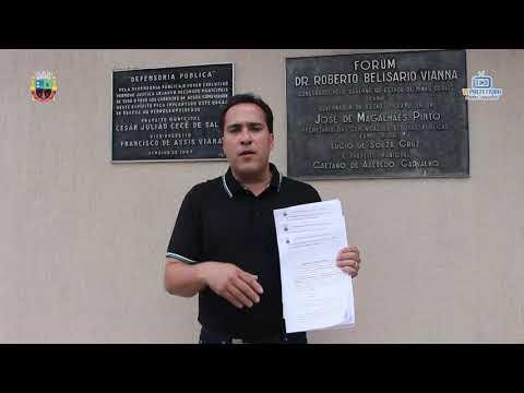 Prefeito Cristiano Marião Ajuizando ação contra o governo do estado referente ao não repasse das verbas