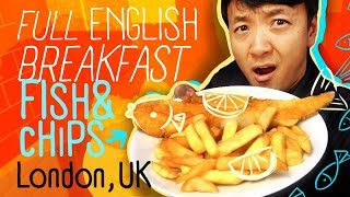 FULL ENGLISH BREAKFAST | Fish & Chips & SUNDAY ROAST in London