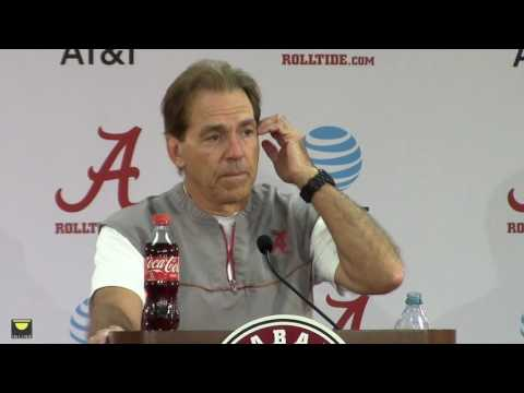 Nick Saban talks Alabama football, didn't know the nation voted yesterday