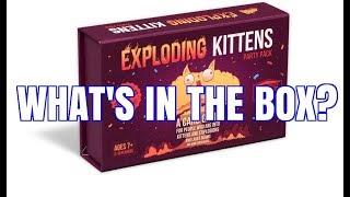 Exploding Kittens Party Pack Unboxing - CARDS REVEAL