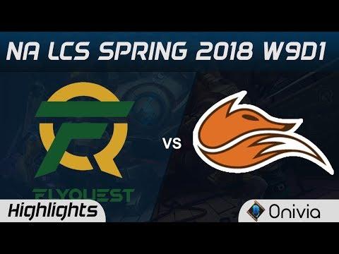 FLY vs FOX Highlights NA LCS Spring 2018 W9D1 Flyquest vs Echo Fox by Onivia