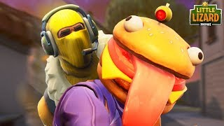 RAPTOR TRIES TO EAT DURR BURGER! *NEW SKIN* Fortnite Short