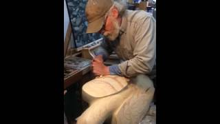 Hand Carving A Ravens Wing