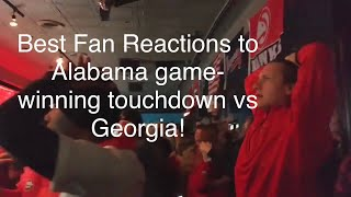 Best Fan Reactions to Alabama game-winning touchdown vs Georgia! (2018 National Championship)