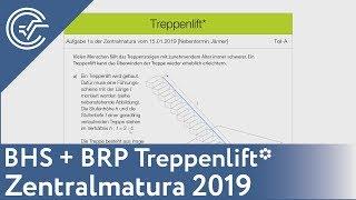 Zentralmatura 2019 Mathematik Bifie Aufgabenpool Erklärt - BHS/BRP Treppenlift A