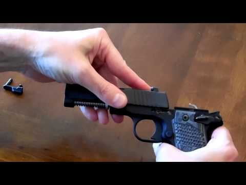 Sig Sauer p238 Takedown & Reassembly Don't destroy your gun!