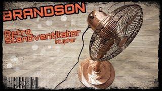 BRANDSON Retro Standventilator (copper) - Unboxing, Aufbau, Nutzung