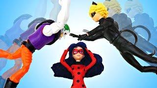 Супер Кот и Джокер поменялись телами! Видео для девочек с ЛедиБаг
