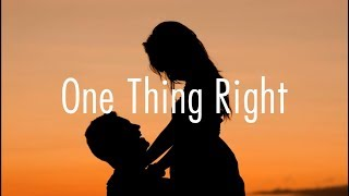 Marshmello   One Thing Right Ft. Kane Brown  Lyrics