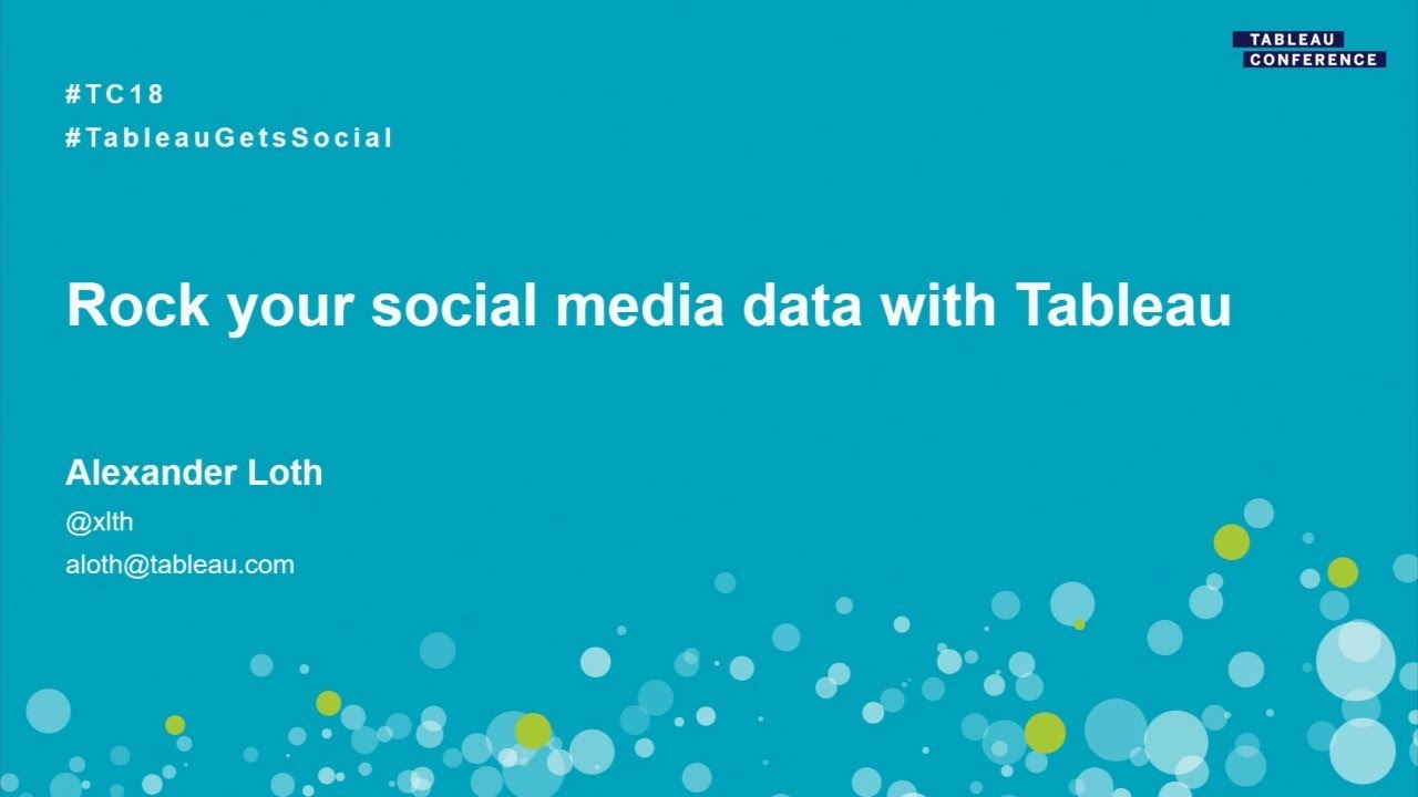 Rock your social media data with Tableau