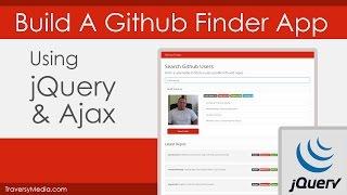 jQuery & Ajax: Build A Github Finder App