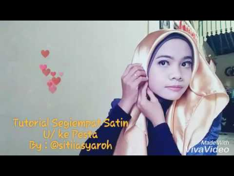 Video tutorial segiempat satin (pesta)
