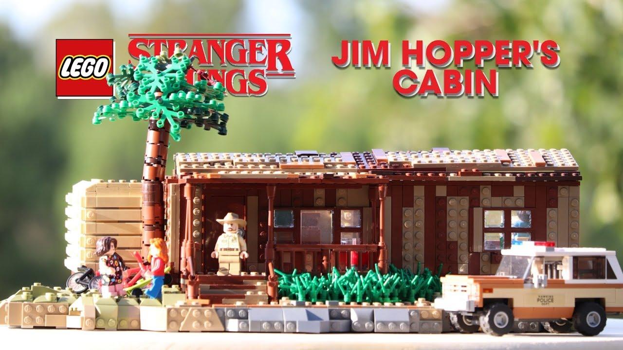 LEGO Hopper's Cabin (Seasons 2 & 3) From STRANGER THINGS! // Custom LEGO MOC