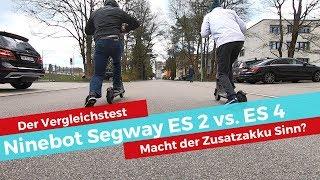 Segway ES2 vs. ES4 - Vergleichstest! Macht der Zusatzakku Sinn?