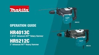 Makita Rotary Hammer Operation Guide (HR4013C, HR5212C) - Thumbnail