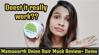 Watch This Video Before Buying Mamaearth Hair Mask L Honest Mamaearth Onion Hair Mask Review + Demo