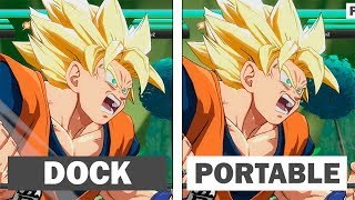 Dragon Ball FighterZ Switch | Portable vs Dock | Comparison