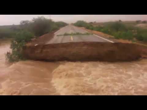 Vídeo mostra o estrago causado pelas fortes chuvas no município de Abaré