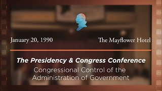 Click to play: Panel III: Congressional Control of the Administration of Government: Hearings, Investigations, Oversight, and Legislative History [Archive Collection]
