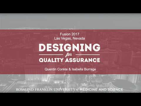 Designing Online Courses for Quality Assurance