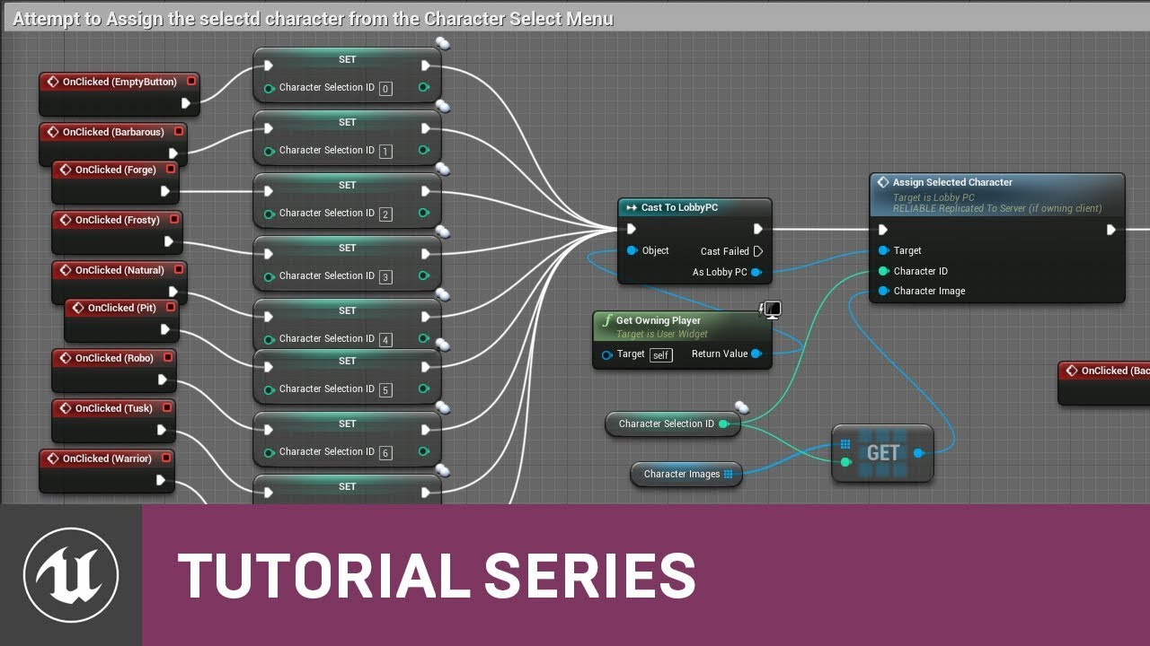Blueprint Multiplayer: Character Select Graph | 21 | v4.11 Tutorial Series | Unreal Engine