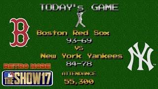 MLB The Show 17 Retro Mode Gameplay Yankees vs Red Sox 6 Inning Game Old Yankee Stadium MLB 17
