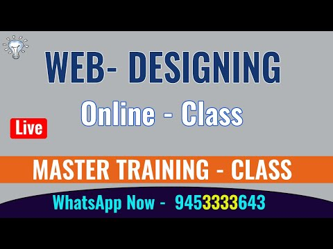 Web Designing first Day - Online  Class ( Demo in Hindi ) || Learn Complete Web Designing.
