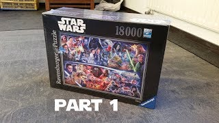 Star Wars Puzzle 18000 Pieces Part 1/4, Star Wars 18.000 Pieces Jigsaw Puzzle: Time lapse, part one
