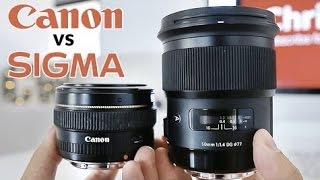 Sigma 50mm 1.4 Art vs Canon 50mm 1.4 - Which lens should you buy?