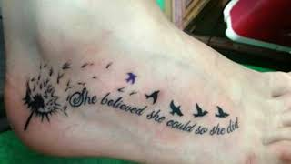 Tattoo Quotes On Foot