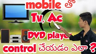 Control any T.V, AC, DVD PLAYER... with your mobile in telugu